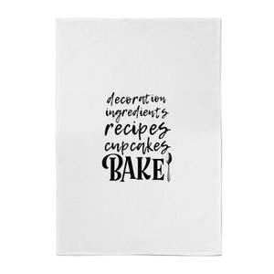 Baking Words Cotton Tea Towel