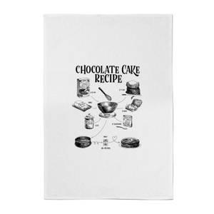 Chocolate Cake Recipe Cotton Tea Towel