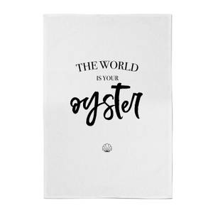 The World Is Your Oyster Cotton Tea Towel
