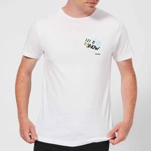 Smiley World Let It Snow Men's T-Shirt - White
