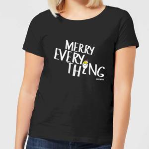 Smiley World Merry Everything Women's T-Shirt - Black