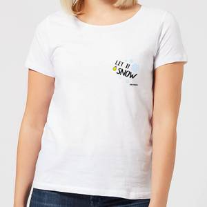 Smiley World Let It Snow Women's T-Shirt - White
