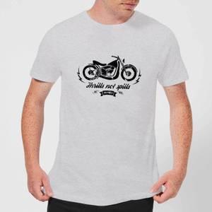Smiley Thrills Not Spills Men's T-Shirt - Grey