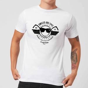 Smiley Smiles Are Free Men's T-Shirt - White