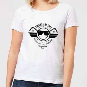 Smiley Smiles Are Free Women's T-Shirt - White