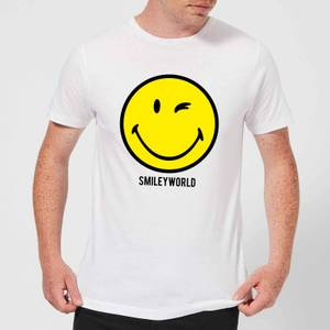 Smiley World Large Yellow Smiley Men's T-Shirt - White