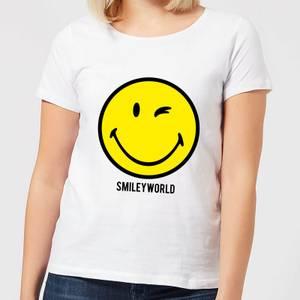 Smiley World Large Yellow Smiley Women's T-Shirt - White