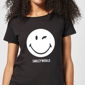 Smiley World Large Smiley Women's T-Shirt - Black