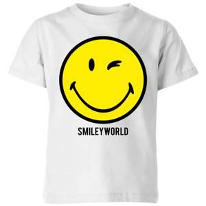 Smiley World Large Yellow Smiley Kids' T-Shirt - White