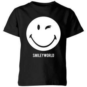 Smiley World Large Smiley Kids' T-Shirt - Black