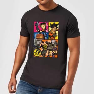 T-Shirt Homme Comic Strip Star Wars Rebels - Noir
