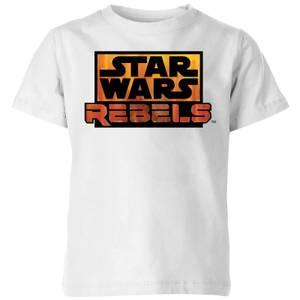 Star Wars Rebels Logo Kids' T-Shirt - White