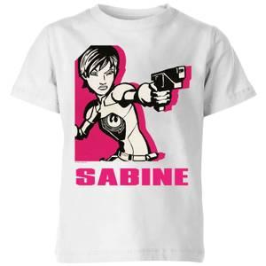 Star Wars Rebels Sabine Kids' T-Shirt - White