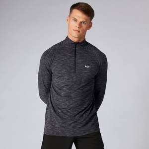 MP Performance ¼ Zip Top för män – Gråmelerad