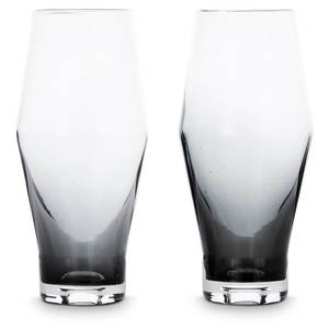 Tom Dixon Tank Beer Glass x2 - Black
