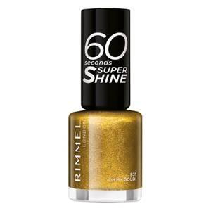 Rimmel 60 Seconds Glitter Nail Polish Oh My Gold