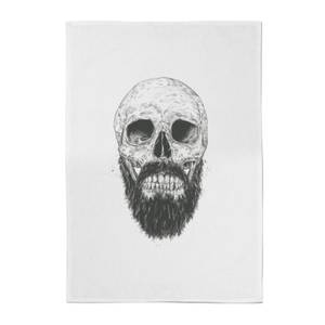 Balazs Solti Bearded Skull Cotton Tea Towel