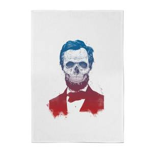 Balazs Solti Suited and Booted Skull Cotton Tea Towel