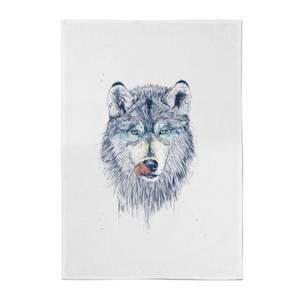 Balazs Solti Wolf Eyes Cotton Tea Towel