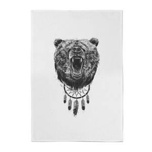 Balazs Solti Dreamcatcher Bear Cotton Tea Towel