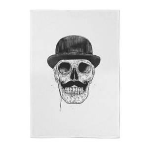Balazs Solti Monocle Skull Cotton Tea Towel