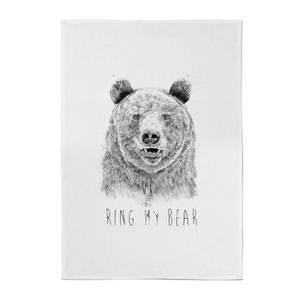Balazs Solti Ring My Bear Cotton Tea Towel