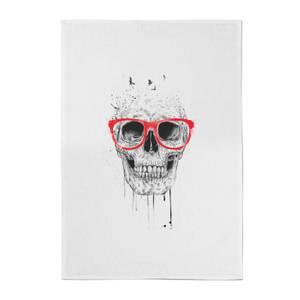 Balazs Solti Skull and Glasses Cotton Tea Towel