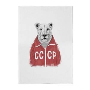 Balazs Solti CCCP Lion Cotton Tea Towel