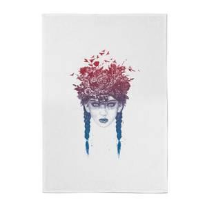 Balazs Solti Native Girl Cotton Tea Towel
