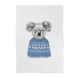 Balazs Solti Koala and Jumper Cotton Tea Towel