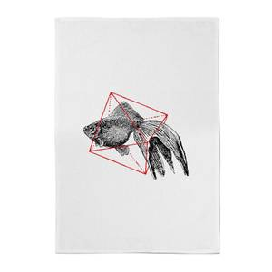 Florent Bodart Fish In Geometry Cotton Tea Towel