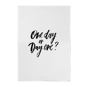PlanetA444 One Day or Day One? Cotton Tea Towel