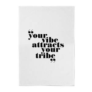 PlanetA444 Your Vibe Attracts Your Tribe Cotton Tea Towel
