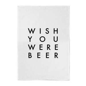 PlanetA444 Wish You Were Beer Cotton Tea Towel