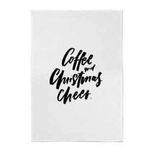 PlanetA444 Coffee and Christmas Cheer Cotton Tea Towel