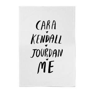 Rock On Ruby Cara Kendall Jourdan Me Cotton Tea Towel