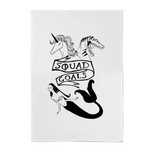 Rock On Ruby Mermaid, Unicorn and Dinosaur Squad Goals Cotton Tea Towel