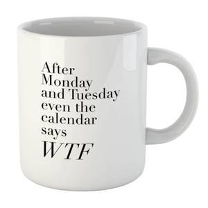 PlanetA444 Even The Calendar Says WTF Mug