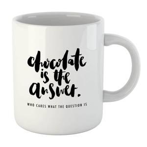 PlanetA444 Chocolate Is The Answer Mug