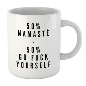 PlanetA444 50% Namaste, 50% Go Fuck Yourself Mug