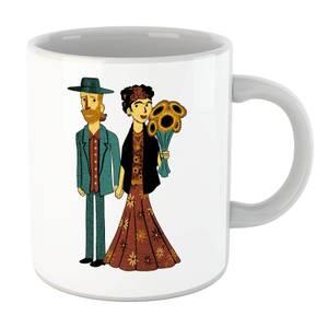Tobias Fonseca Love Is Art - Frida Kahlo and Van Gogh Mug