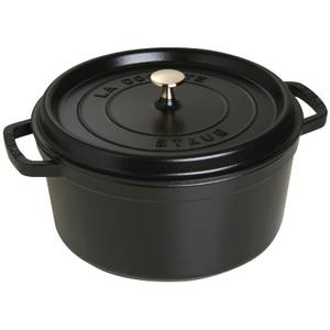 Staub Round Cocotte - Black - 28cm