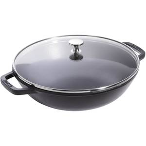 Staub Round Small Wok - Black - 30cm