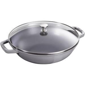Staub Round Small Wok - Graphite Grey - 30cm