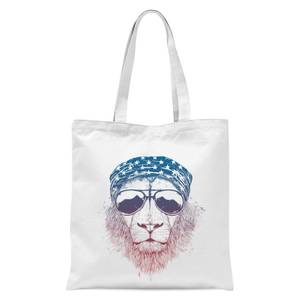 Balazs Solti Bandana Lion Tote Bag - White