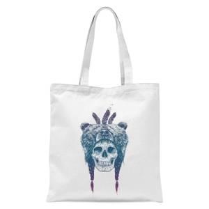 Balazs Solti Bear Head Tote Bag - White