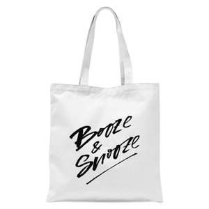 PlanetA444 Booze & Snooze Tote Bag - White