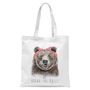 Balazs Solti Break The Rules Tote Bag - White