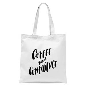 PlanetA444 Coffee and Confidence Tote Bag - White