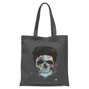 Balazs Solti Colourful Skull Tote Bag - Grey